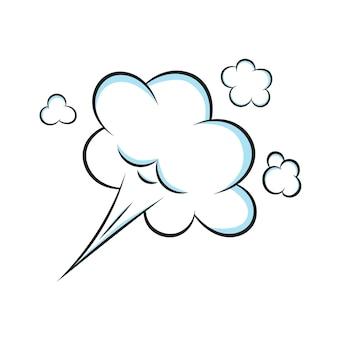 Illustrazione piana di vettore di progettazione di stile della nuvola di scoreggia del fumetto del libro di fumetti