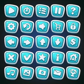 Set di pulsanti del fumetto comico