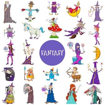 Personaggi di fantasia comica grande set