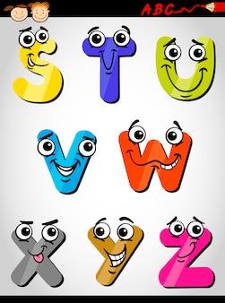 Fumetto comico alfabeto illustrazione del fumetto