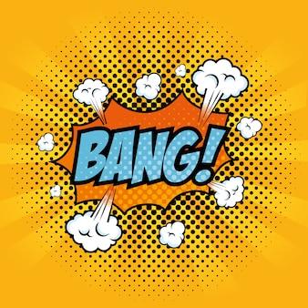 Il fumetto come il pop art di colpo con le nuvole cede firmando un documento l'illustrazione arancio di vettore del fondo