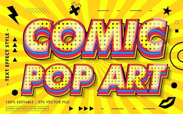 Stile di effetti del testo di comic pop art