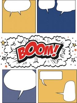Fumetti comici e sfondo di fumetti