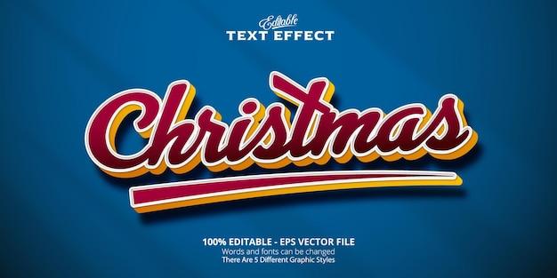 Effetto testo modificabile in stile fumetto, testo natalizio