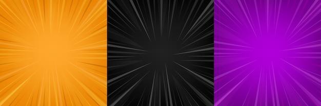 Linee di zoom comiche vuoto scenografia di sfondo