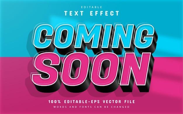 Prossimamente effetto testo 3d