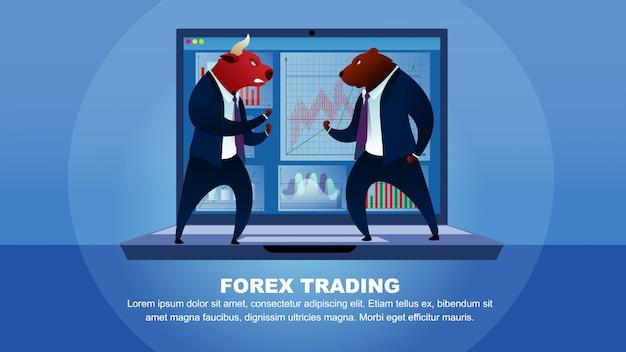Commercio borsa mercato forex trading denaro globale