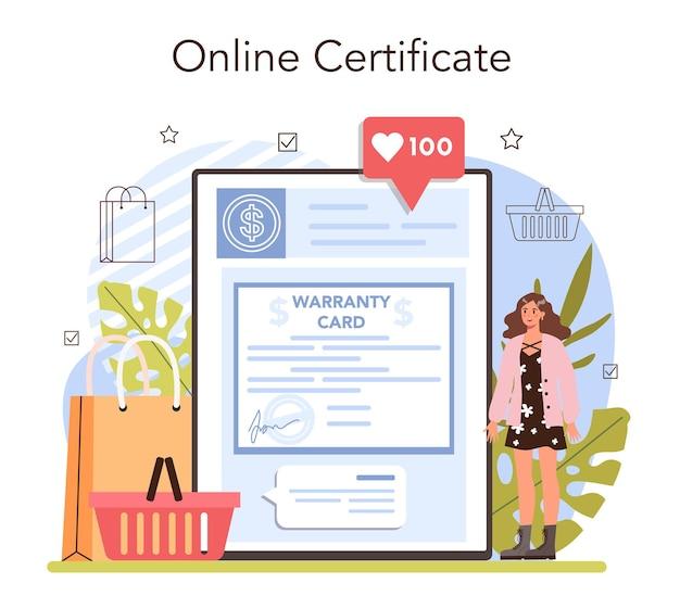 Le attività commerciali elaborano il servizio online o la piattaforma di pagamento moderno