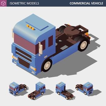Veicolo commerciale. illustrazione isometrica in quattro dimensioni.