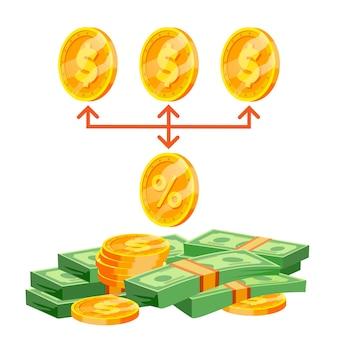 Commissione commissione per gli acquisti aziendali. concetto di percentuale. commissione di riscossione