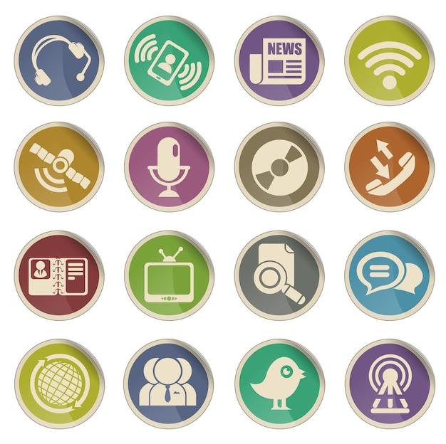 Icone di comunicazione. semplicemente simbolo per le icone web