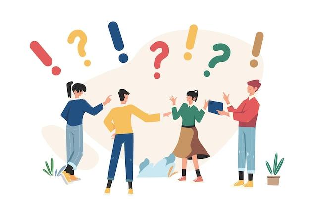Comunicazione di persone alla ricerca di soluzioni ai problemi