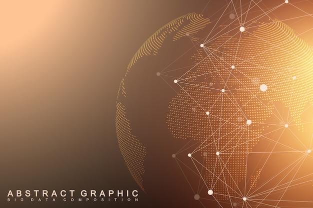 Comunicazione con world globe background