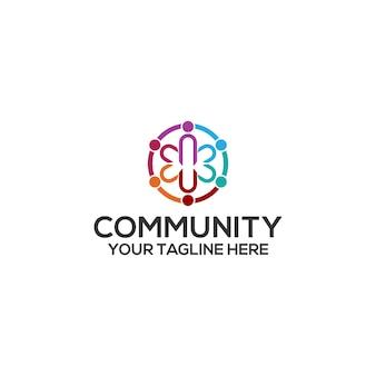 Vettore del modello di logo della comunità. vettore di concetto di logo della comunità
