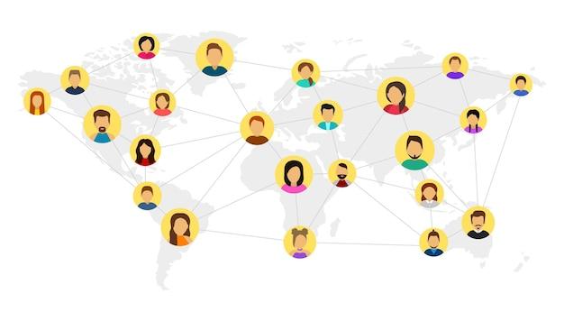 Rete comunitaria in tutto il mondo social network