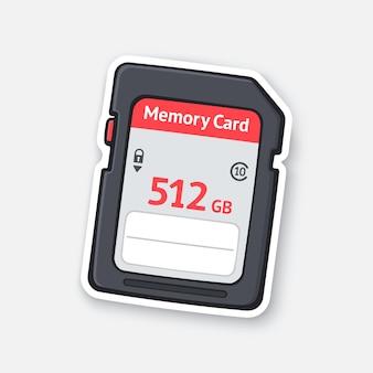 Scheda di memoria compatta unità flash archiviazione moderna di informazioni digitali illustrazione vettoriale