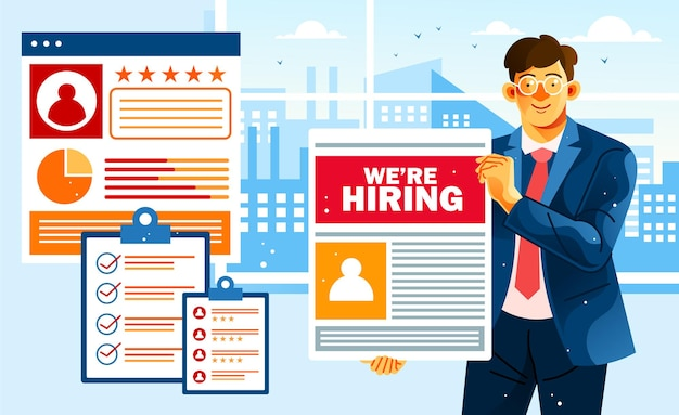 Le aziende aprono un posto di lavoro vacante
