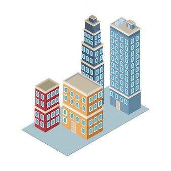 Edifici aziendali isometrici