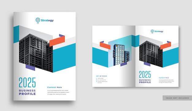 Copertina brochure aziendale o aziendale o relazione annuale e copertina profilo aziendale o copertina opuscolo