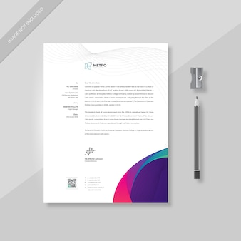 Modello carta intestata - affari aziendali