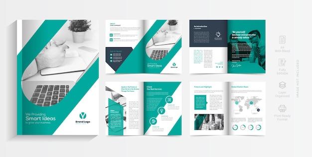 Progettazione del modello di brochure del profilo aziendale