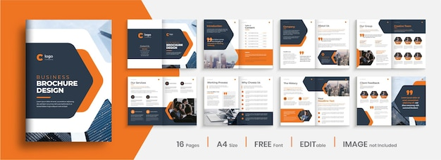 Modello di progettazione brochure profilo aziendale