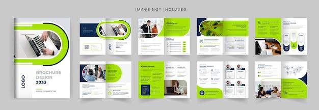Design del layout del modello di brochure del profilo aziendale brochure aziendale minimalista di forma moderna colorata