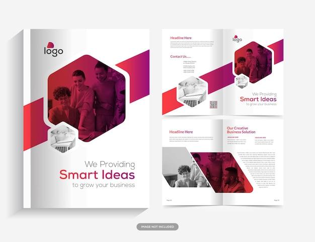 Modello di brochure del profilo aziendale design di brochure multipagina vettore premium