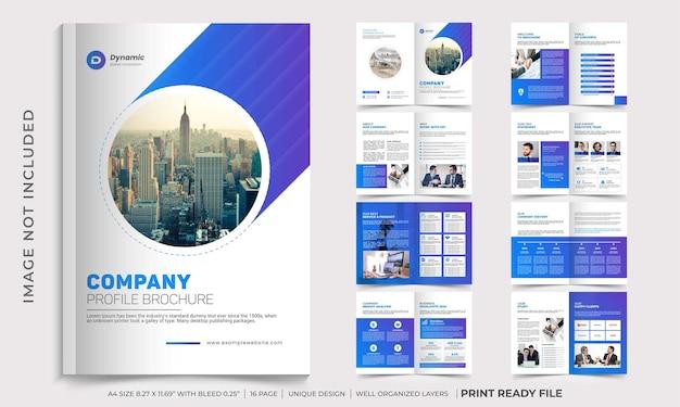Modello di brochure del profilo aziendale, design di brochure multipagina