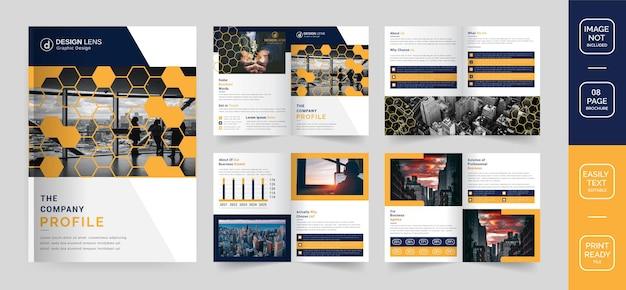 Il modello di brochure del profilo aziendale