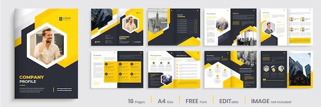 Design del modello del profilo aziendale, design del profilo aziendale creativo