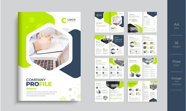 Modello di profilo aziendale design moderno minimale brochure multipagina