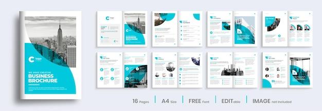 Progettazione del layout del modello di profilo aziendale, design minimalista dell'opuscolo aziendale