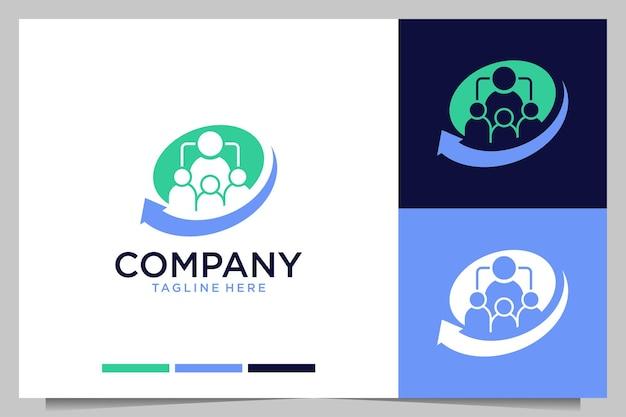 Design moderno del logo di reclutamento aziendale