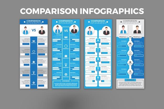 Modello di confronto infografica design