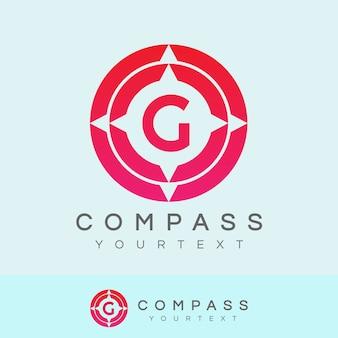 Bussola iniziale lettera g logo design