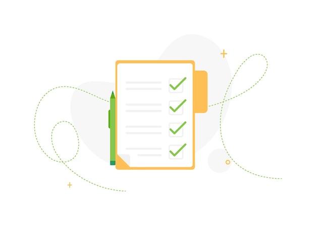 Documenti dell'elenco delle attività completate nella cartella