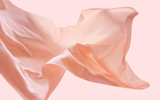 Tessuto fluttuante per carnagione, elementi di design romantici, seta e consistenza morbida