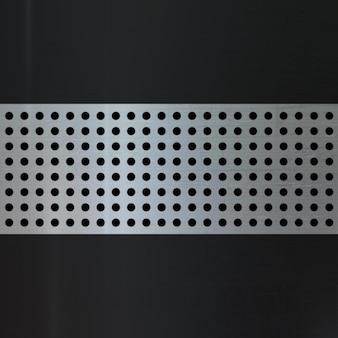 Struttura metallica composita con punti su sfondo scuro