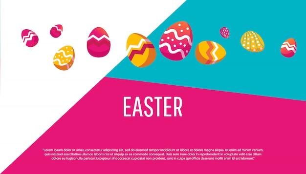 Composizione del simpatico poster per easter egg