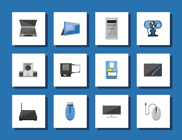 Set di apparecchiature informatiche