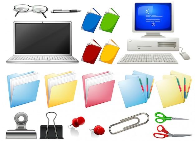 Computer e oggetti per ufficio