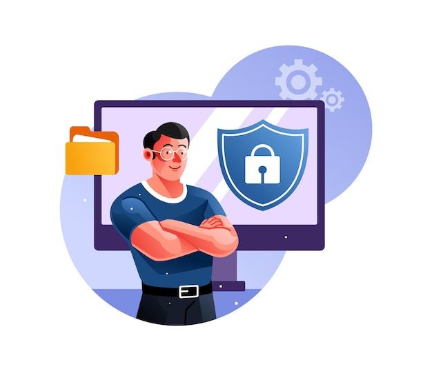 Guardia di sicurezza di protezione del sistema informatico