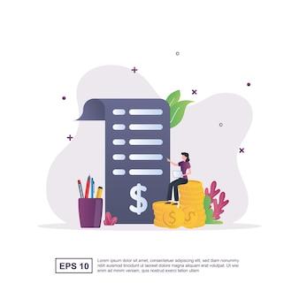 Concetto di contabilità con rapporti cartacei