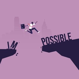 Concetto il più possibile e impossibile di successo negli affari e nella leadership