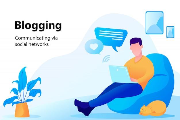 Concetto di blogging