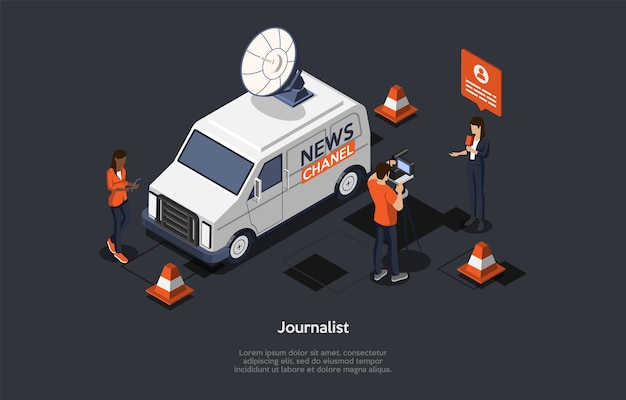 Concetto di rompere le ultime notizie. aggiornamento di notizie, notizie in linea.