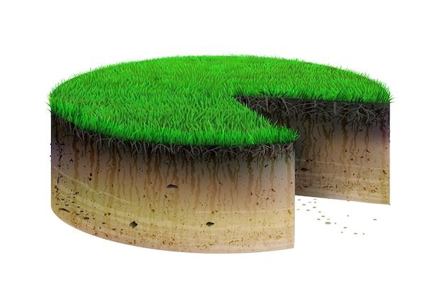 Torta di concetto da appezzamento di terreno