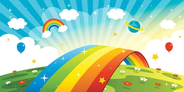 Concetto di un arcobaleno colorato