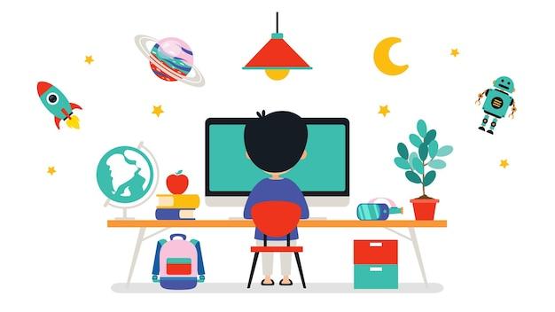 Concetto di tecnologia informatica per istruzione e affari